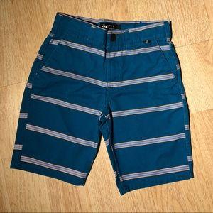 Hurley Turquoise stripe Boys Shorts Size 12